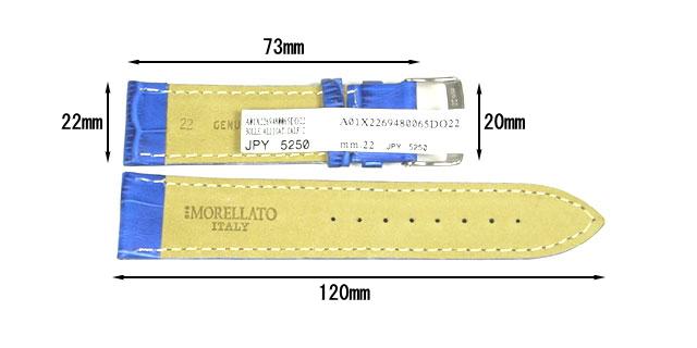 モレラート・ボーレ・22mmブルー