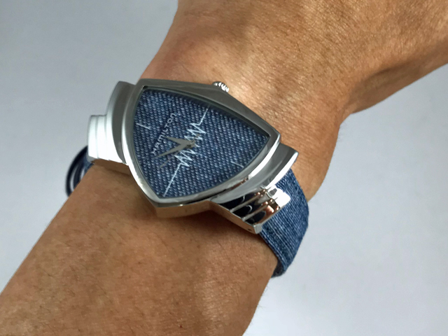 ハミルトン・ベンチュラ(ブルーテキスタイルベルト) H24411941 正規品 腕時計