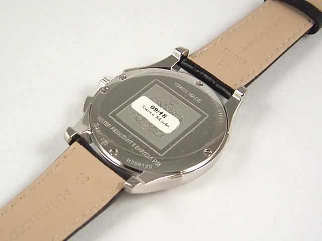 ハミルトン・ジャズマスター・シンライン クロノ H38612733正規品 腕時計