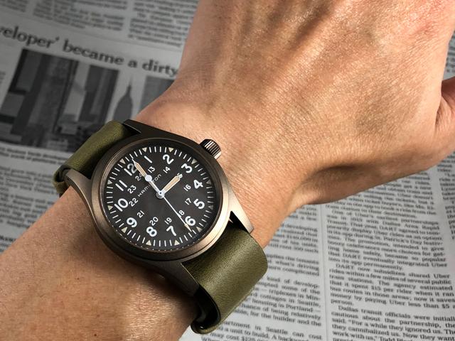 ハミルトン[HAMILTON]カーキ・フィールド・メカNATOストラップモデル H69449861 正規品 腕時計