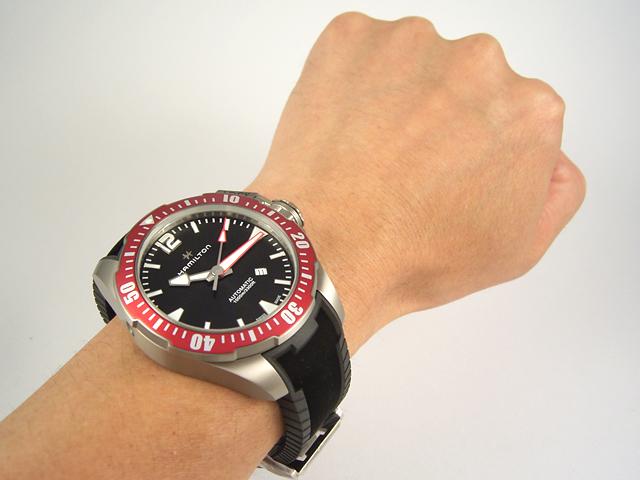 ハミルトン・カーキネイビーオープンウォーター チタニウムH77805335 腕時計